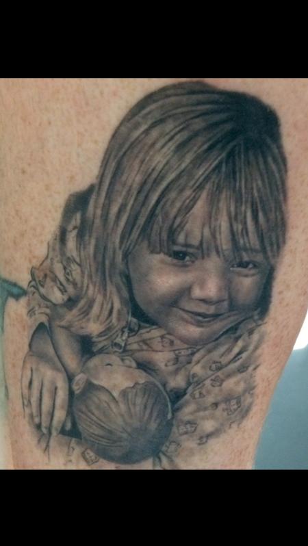 tattoos/ - Child Holding Doll Portrait - 119200