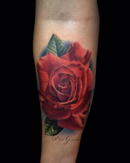 tattoos/ - red rose tattoo - 119503