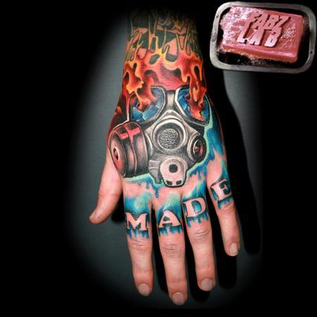 tattoos/ - Gas Mask Hand Tattoo - 62176