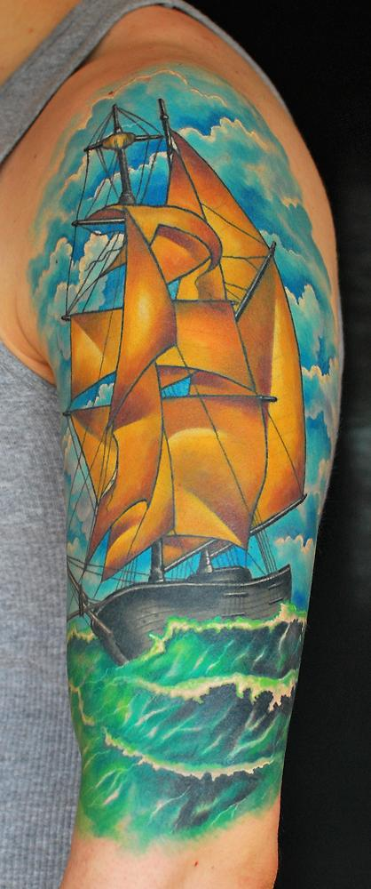 tattoos/ - Sailboat - 75769
