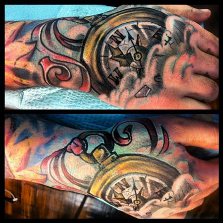 tattoos/ - Compass hand tattoo - 77206