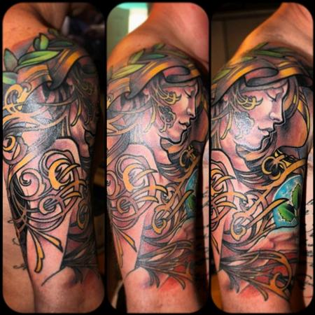 tattoos/ - Art Nouveau Inspired Tattoo - 77205