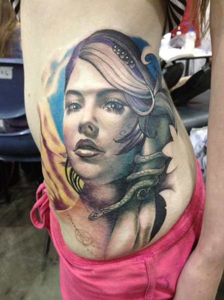 tattoos/ - Realistic Girl Tattoo - 66300