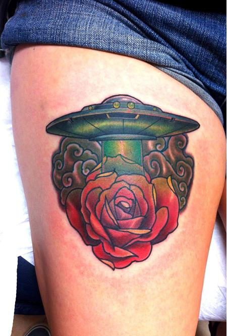 tattoos/ - Spaceship rose - 80123