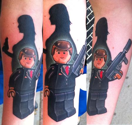 tattoos/ - James bond lego  - 80122