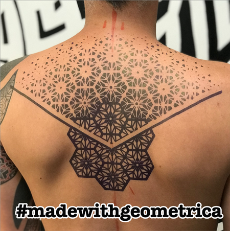 tattoos/ - geometric back tattoo - 141739