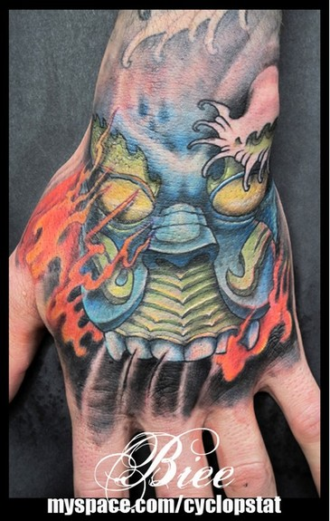 tattoos/ - Hand/Mask Tattoo - 52499
