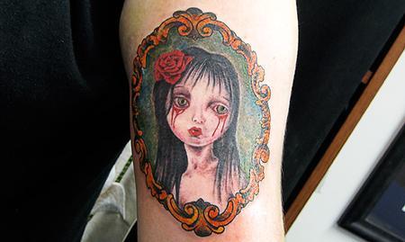 tattoos/ - Color Girl Portrait Tattoo - 61614