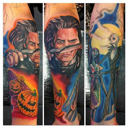 tattoos/ - Tim Burton half sleeve - 71507