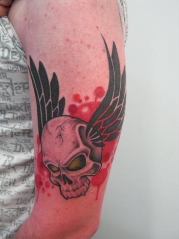 tattoos/ - Custom flying skull tattoo - 51918