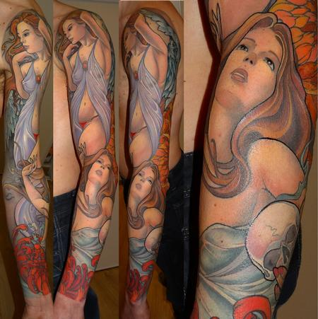 tattoos/ - women color sleeve - 84250