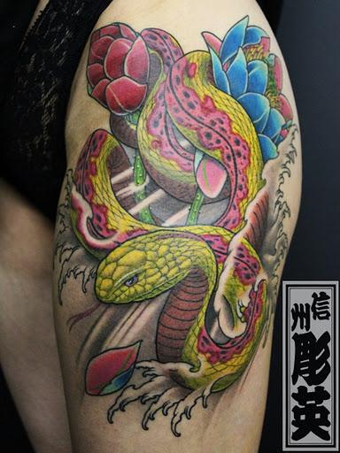 tattoos/ - Custom Snake Tattoo - 60545