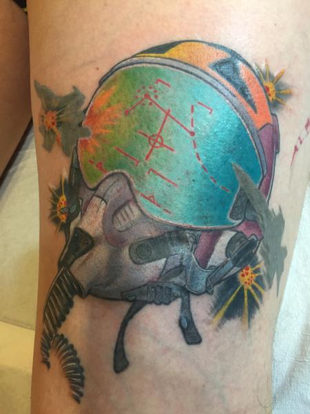 tattoos/ - Dog Fight Helmet Tattoo - 117500