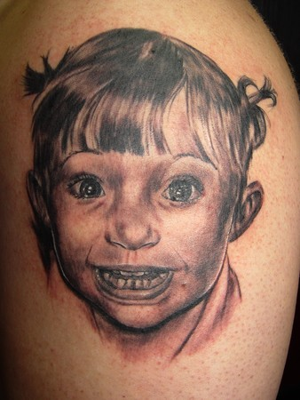 tattoos/ - Little Girl Portrait - 36452
