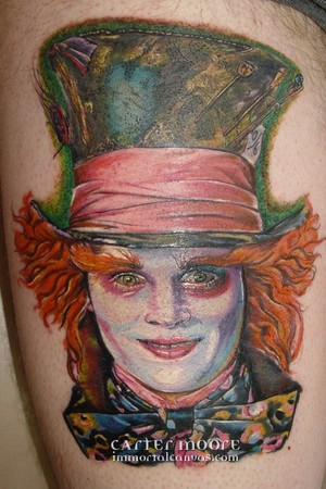 tattoos/ - Johnny Depp as the Mad Hatter - 46329