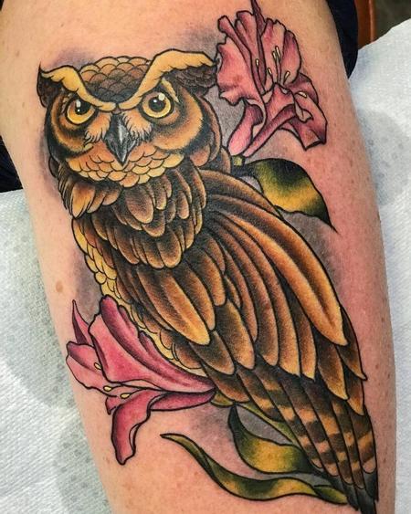 tattoos/ - Color Owl Tattoo - 141372