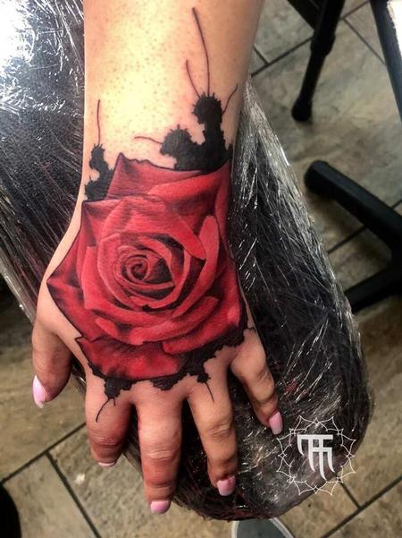 tattoos/ - Red Rose on Hand Tattoo - 141356