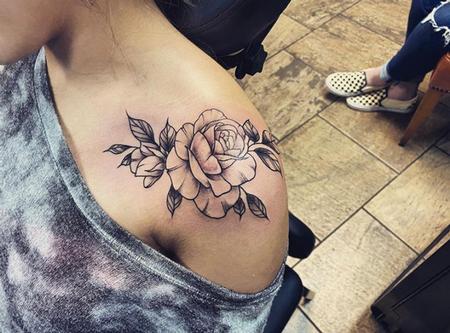 tattoos/ - Shoulder Rose - 141386