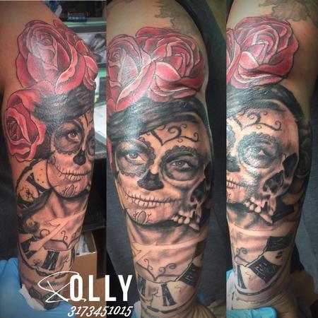 tattoos/ - Sugar skull girl morph - 123008