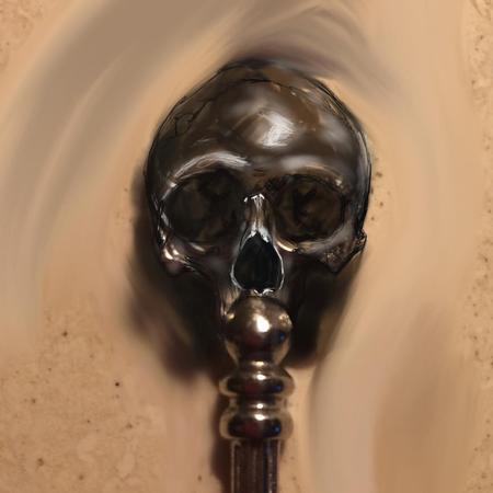 Art Galleries - Skull Staff Original Art - 117212
