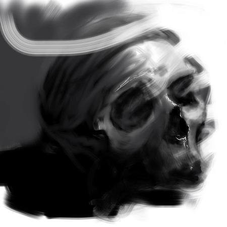Art Galleries - Washy Skull Digital Painting - 117213