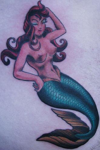 tattoos/ - andy's mermaid - 8022