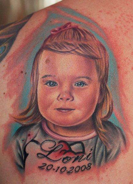 tattoos/ - Full Color Baby Portrait - 57266