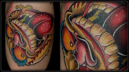 tattoos/ - Baseball Monster Face - 67877