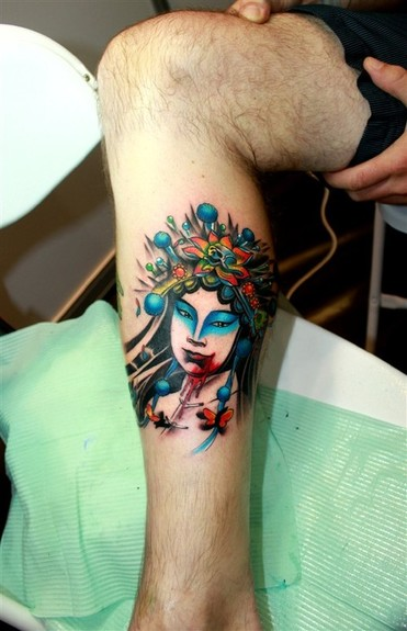 tattoos/ - Custom asian lady - 49574