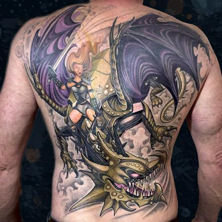 tattoos/ - Dragon & Warrior - 142396