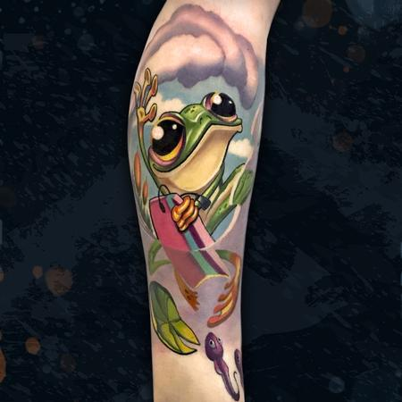 tattoos/ - Boogie Boarding Frog - 142581