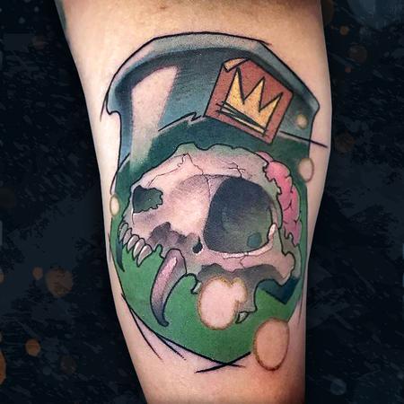 tattoos/ - Cat Skull in a Jar - 142398