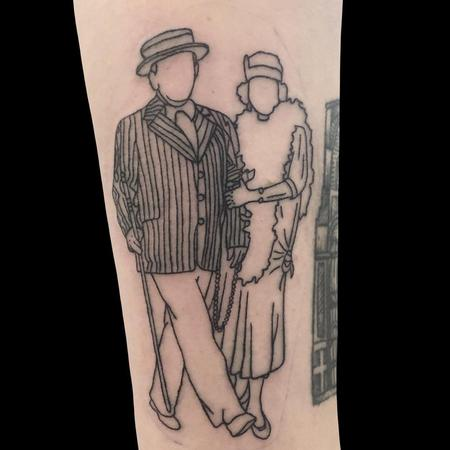 tattoos/ - Grandparents Outline  - 142355