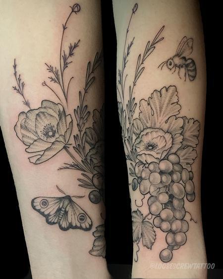 tattoos/ - Vineyard Bouquet - 142248