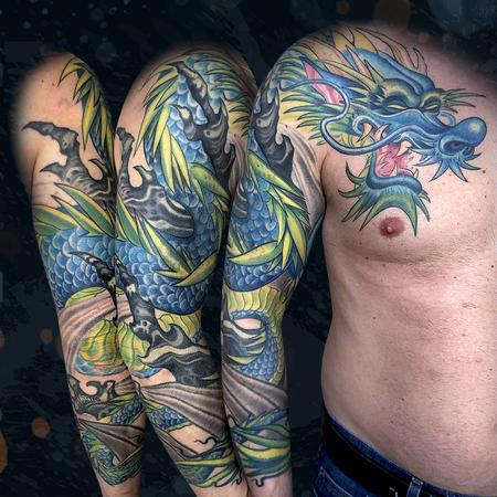 tattoos/ - Blue Dragon - 142534