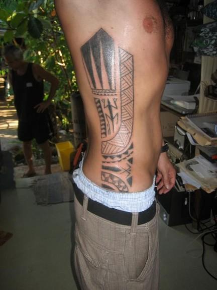 tattoos/ - Traditional blackwork side tattoo - 49754