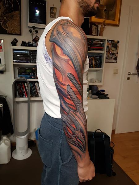 tattoos/ - Abstract Arm Bio Tattoo - 140272