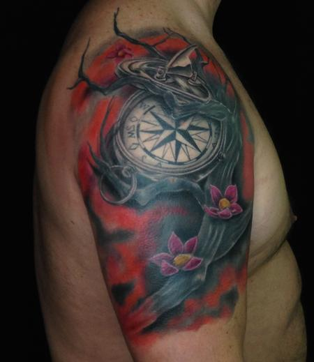 tattoos/ - Compass Coverup - 140650