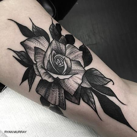 tattoos/ - Blackwork Flower - 120318