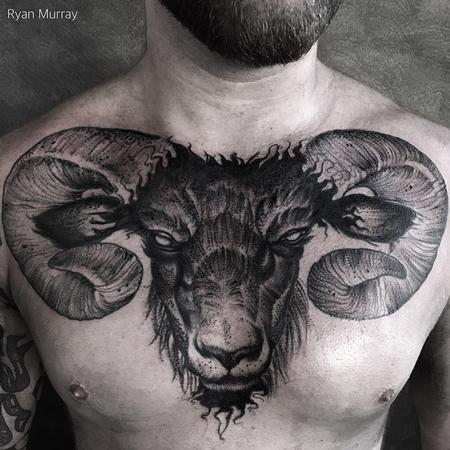 tattoos/ - Blackwork Goat - 120447