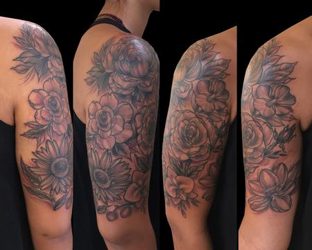 tattoos/ - Black & Gray Flowers - 125430