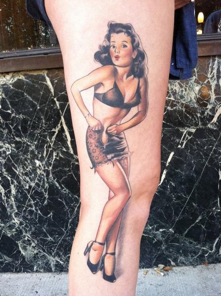 tattoos/ - Healed Color Pinup Tattoo - 57616
