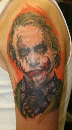 tattoos/ - joker color portrait 1st session  - 36989