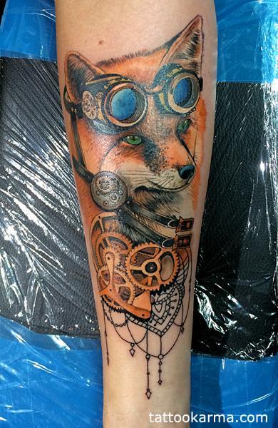 tattoos/ - Fox steampunk tattoo - 104709