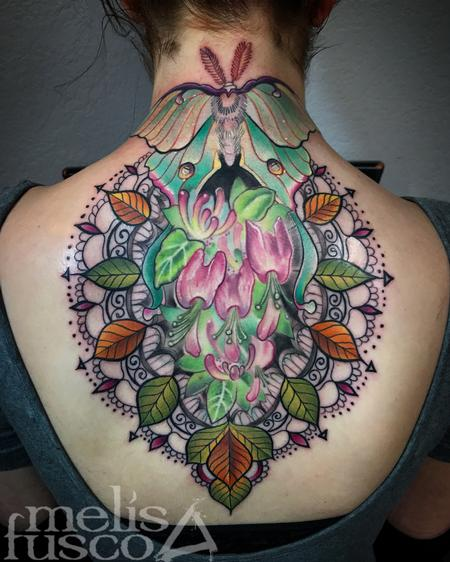 tattoos/ - Luna moth and ornate design  - 129161