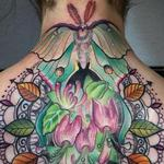 Luna moth and ornate design  Tattoo Design Thumbnail