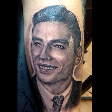 tattoos/ - black and grey old picture portrait done by cesar pere from Keene ,NH - 78654