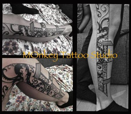 tattoos/ - Custom Black Work Tattoo - 60499