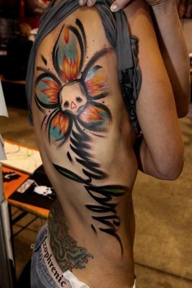 tattoos/ - Skull Flower Tattoo - 52485