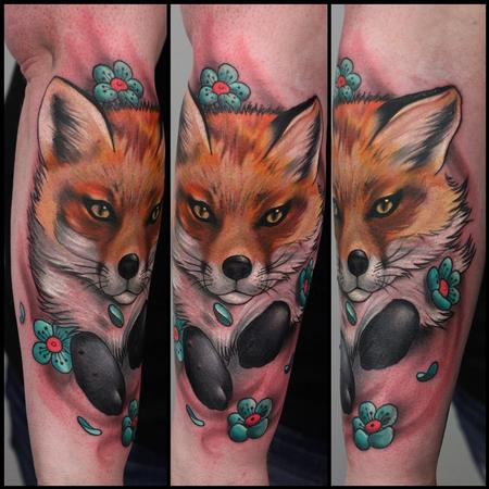 tattoos/ - Fox and flowers - 91213